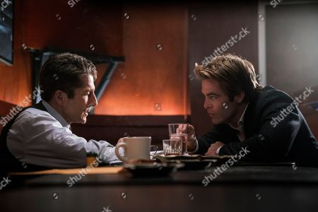 Stock Image of Leland Orser as Peter Sullivan and Chris Pine as Jay Singletary