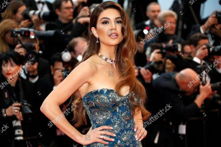 Negin Mirsalehi arrives for the screening of 'Dolor y Gloria' (Pain and Glory) during the 72nd annual Cannes Film Festival, in Cannes, France, 17 May 2019. The movie is presented in the Official Competition of the festival which runs from 14 to 25 May.