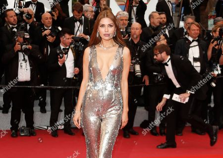 Russian TV presenter and model Victoria Bonya arrives for the screening of 'Dolor y Gloria' (Pain and Glory) during the 72nd annual Cannes Film Festival, in Cannes, France, 17 May 2019. The movie is presented in the Official Competition of the festival which runs from 14 to 25 May.