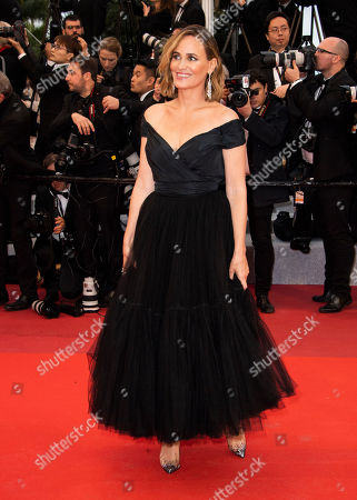 Judith Godreche poses for photographers upon arrival at the premiere for the film 'Pain and Glory' at the 72nd international film festival, Cannes, southern France