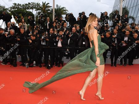 Stefanie Giesinger poses for photographers upon arrival at the premiere for the film 'Pain and Glory' at the 72nd international film festival, Cannes, southern France