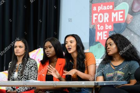 Maya Jama with Mariah Idrissi, Dami Olonisakin, Penny Jarrett, Jada Sezer and Tolani Shoneye.