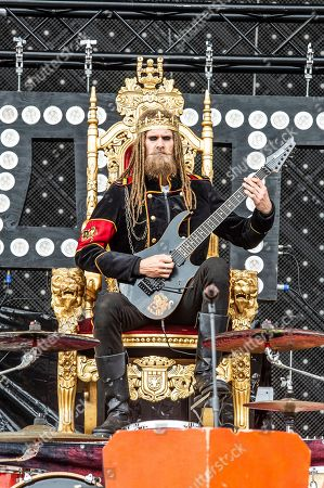 """Jonas """"Kungen"""" Jarlsby of Avatar performs at the Sonic Temple Art and Music Festival at Mapfre Stadium, in Columbus, Ohio"""