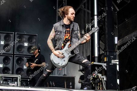 Stock Picture of Chris Cain of Bad Wolves performs at the Sonic Temple Art and Music Festival at Mapfre Stadium, in Columbus, Ohio