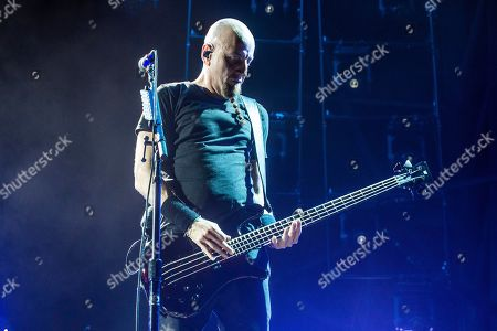 Shavo Odadjian of System Of A Down performs at the Sonic Temple Art and Music Festival at Mapfre Stadium, in Columbus, Ohio