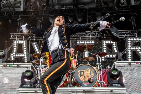 Johannes Eckerstrom of Avatar performs at the Sonic Temple Art and Music Festival at Mapfre Stadium, in Columbus, Ohio