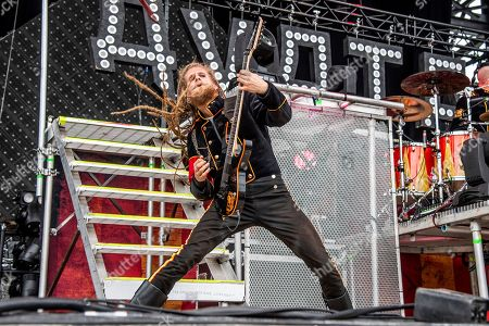 Jonas Jarlsby of Avatar performs at the Sonic Temple Art and Music Festival at Mapfre Stadium, in Columbus, Ohio