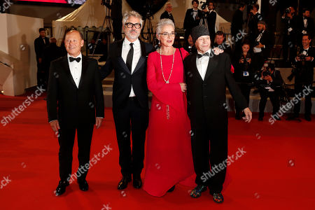 Jan Harlan, Alfonso Cuaron, Katharina Kubrick and Leon Vitali arrive for the screening of 'Too Old to Die Young - North of Hollywood, West of Hell' during the 72nd annual Cannes Film Festival, in Cannes, France, 17 May 2019. The movie is presented out of competition at the festival which runs from 14 to 25 May.
