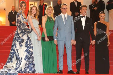 Stock Photo of Taylor Hill, Lola Winding Refn, Liv Corfixen, Danish director Nicolas Winding Refn, Miles Teller and Keleigh Sperry arrive for the screening of 'Too Old to Die Young - North of Hollywood, West of Hell' during the 72nd annual Cannes Film Festival, in Cannes, France, 17 May 2019. The movie is presented out of competition at the festival which runs from 14 to 25 May.