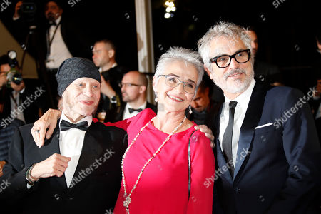 Alfonso Cuaron, Katharina Kubrick and Leon Vitali arrive for the screening of 'Too Old to Die Young - North of Hollywood, West of Hell' during the 72nd annual Cannes Film Festival, in Cannes, France, 17 May 2019. The movie is presented out of competition at the festival which runs from 14 to 25 May.