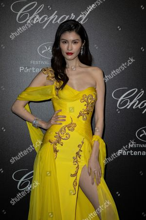 Sui He poses for photographers upon arrival at the Chopard Love event at the 72nd international film festival, Cannes, southern France