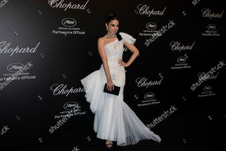 Stock Photo of Dorra Zarrouk poses for photographers upon arrival at the Chopard Love event at the 72nd international film festival, Cannes, southern France