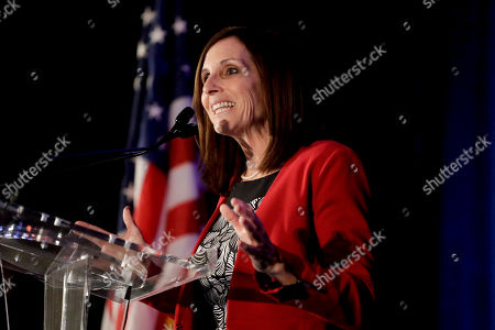 Sen. Martha McSally, R-Ariz., speaks during a luncheon at the Arizona Biltmore, in Phoenix. Arizona Senators Kyrsten Sinema and McSally spoke to a crowd at an Arizona Chamber of Commerce and Industry event to give an update on action in Washington, D.C