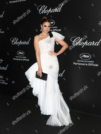 Dorra Zarrouk attends the Chopard Love Party during the 72nd annual Cannes Film Festival in Le Cannet, France, 17 May 2019. The film festival runs from 14 to 25 May 2019.