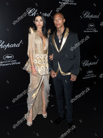 Jeremy Meeks (R) and Romanian model Andreea Sasu (L) attend the Chopard Love Party during the 72nd annual Cannes Film Festival in Le Cannet, France, 17 May 2019. The film festival runs from 14 to 25 May 2019.