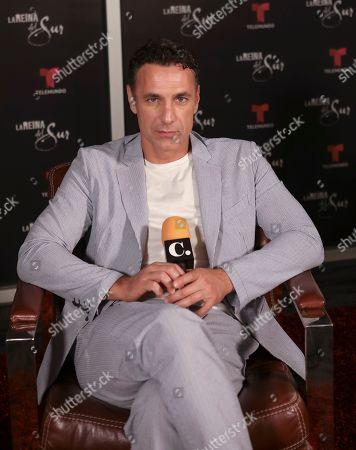 Stock Picture of Raoul Bova promoting the new season of La Reina del Sur at Telemundo Center