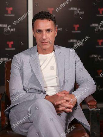 Stock Photo of Raoul Bova promoting the new season of La Reina del Sur at Telemundo Center