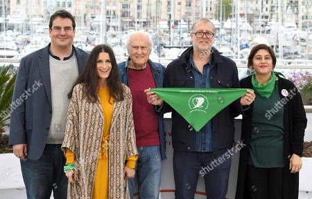 Stock Photo of Nicolas Sulcic, Paula Moore, Fernando Solanas, Juan Solanas and Victoria Solanas