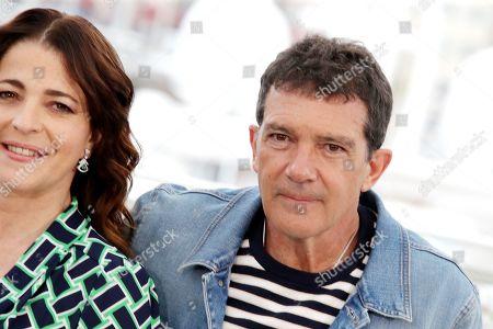 Nora Navas and Antonio Banderas