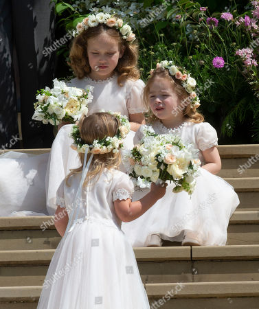 Stock Photo of Brides maids Maud Windsor and Isabella Windsor