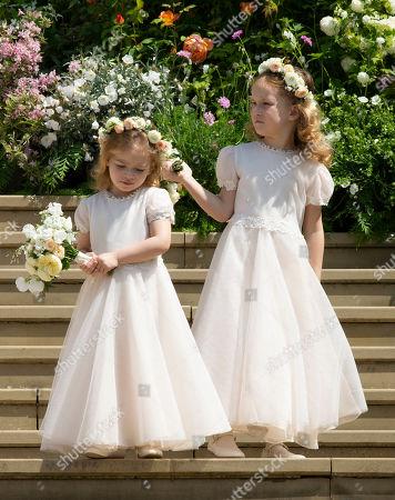 Brides maids Isabella Windsor and Maud Windsor