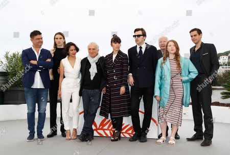 Portuguese director Joaquim Sapinho, French actor Baptiste Pinteaux, French set designer Laura Poulvet, French actor Marc Susini, Spanish actress Montse Triola, Spanish director Albert Serra, French producer Pierre-Olivier Bardet, French actress Iliana Zabeth and German screenwriter Felix Von Boehm pose during the photocall for 'Liberte' at the 72nd annual Cannes Film Festival, in Cannes, France, 18 May 2019. The movie is presented in the section Un Certain Regard of the festival which runs from 14 to 25 May.