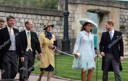 Tim Laurence, Prince Edward, Princess Anne, Lord Frederick Windsor and Prince Harry