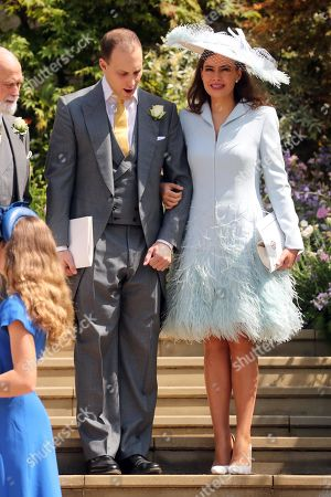 Lord Frederick Windsor and Sophie Winkleman after the wedding
