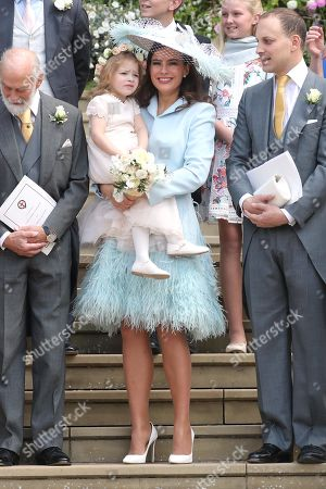 Prince Michael of Kent, Sophie Winkleman and Lord Frederick Windsor after the wedding