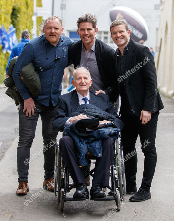 Leinster vs Munster. Peter Coyle, Liam Toland, Gordan D'Arcy with Ken Ging
