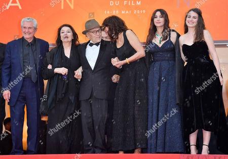 Claude Lelouch, Anouk Aimee, Jean-Louis Trintignant, Marianne Denicourt, Monica Bellucci and Tess Lauvergne