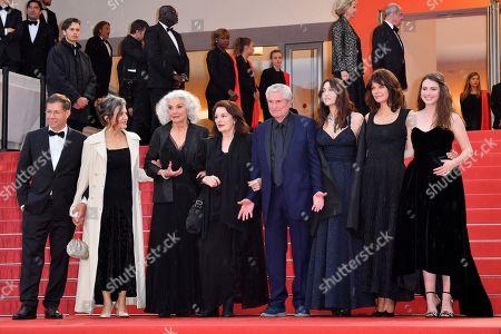 Souad Amidou, Antoine Sire, Claude Lelouch, Anouk Aimee, Jean-Louis Trintignant, Marianne Denicourt, Monica Bellucci and Tess Lauvergne