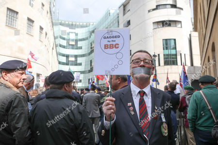 Veterans march in protest against persecution of 'Soldier F' at BBC, London