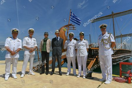 Duke of Kent visits cruiser Georgios Averof, Athens