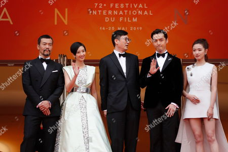 Liao Fan, Kwai Lun-Mei, Chinese director Diao Yinan, Hu Ge and Regina Wan arrive for the screening of â??Nan Fang Che Zhan De Ju Hui' (The Wild Goose Lake) during the 72nd annual Cannes Film Festival, in Cannes, France, 18 May 2019. The movie is presented in the Official Competition of the festival which runs from 14 to 25 May.