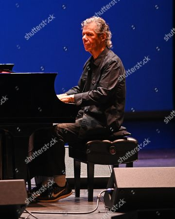 Editorial photo of Bela Fleck and Chick Corea in concert at The Kravis Center for the Performing Arts,  West Palm Beach, Florida, USA - 17 May 2019