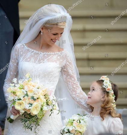 Lady Gabriella Windsor and Maud Windsor, bridesmaid