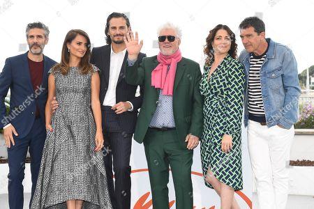Leonardo Sbaraglia, Penelope Cruz, Asier Etxeandia, Pedro Almodovar, Nora Navas and Antonio Banderas