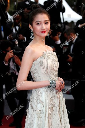 Guan Xiaotong arrives for the screening of 'Les Plus Belles Annees d'une Vie' (The Best Years of a Life) during the 72nd annual Cannes Film Festival, in Cannes, France, 18 May 2019. The movie is presented in the Official Competition of the festival which runs from 14 to 25 May.