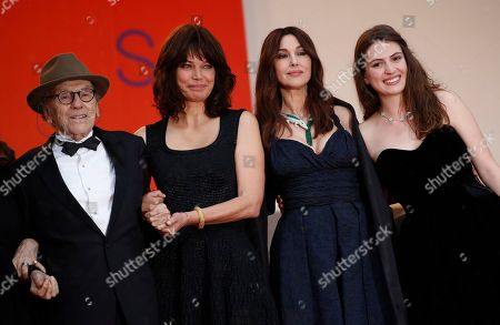 Jean-Louis Trintignant, Marianne Denicourt, Monica Bellucci and Tess Lauvergne arrive for the screening of 'Les Plus Belles Annees d'une Vie' (The Best Years of a Life) during the 72nd annual Cannes Film Festival, in Cannes, France, 18 May 2019. The movie is presented in the Official Competition of the festival which runs from 14 to 25 May.