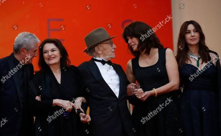 Claude Lelouch, Anouk Aimee, Jean-Louis Trintignant, Marianne Denicourt and Monica Bellucci arrive for the screening of 'Les Plus Belles Annees d'une Vie' (The Best Years of a Life) during the 72nd annual Cannes Film Festival, in Cannes, France, 18 May 2019. The movie is presented in the Official Competition of the festival which runs from 14 to 25 May.