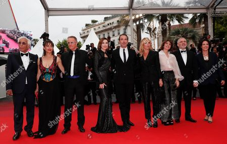 Gerard Darmon, Audrey Dana, Christopher Lambert, Elsa Zylberstein, Jean Dujardin, Mathilde Seignier, Irene Jacob, and two unidentified guests arrive for the screening of 'Les Plus Belles Annees d'une Vie' (The Best Years of a Life) during the 72nd annual Cannes Film Festival, in Cannes, France, 18 May 2019. The movie is presented in the Official Competition of the festival which runs from 14 to 25 May.