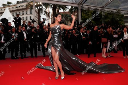 Loubna Abidar arrives for the screening of 'Les Plus Belles Annees d'une Vie' (The Best Years of a Life) during the 72nd annual Cannes Film Festival, in Cannes, France, 18 May 2019. The movie is presented in the Official Competition of the festival which runs from 14 to 25 May.