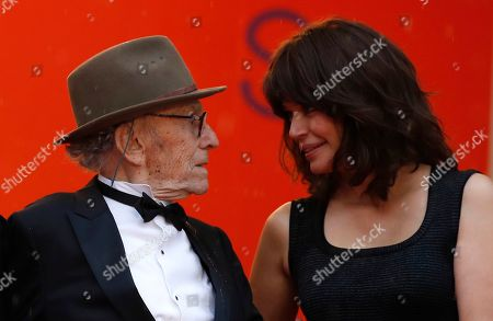 Stock Image of Jean-Louis Trintignant and Marianne Denicourt arrive for the screening of 'Les Plus Belles Annees d'une Vie' (The Best Years of a Life) during the 72nd annual Cannes Film Festival, in Cannes, France, 18 May 2019. The movie is presented in the Official Competition of the festival which runs from 14 to 25 May.