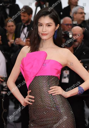 Sui He poses for photographers upon arrival at the premiere of the film 'The Best Years of a Life' at the 72nd international film festival, Cannes, southern France