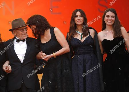 Jean-Louis Trintignant, Marianne Denicourt, Monica Bellucci, Tess Lauvergne. Actors Jean-Louis Trintignant, from left, Marianne Denicourt, Monica Bellucci, and Tess Lauvergne pose for photographers upon arrival at the premiere of the film 'The Best Years of a Life' at the 72nd international film festival, Cannes, southern France