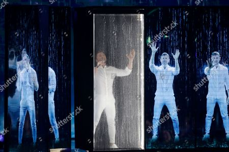 Stock Photo of Contestant Sergey Lazarev of Russia performs 'Scream' during the Grand Final of the 64th annual Eurovision Song Contest (ESC) at the Expo Tel Aviv, in Tel Aviv, Israel, 18 May 2019.