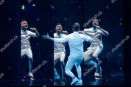 Stock Image of Contestant Sergey Lazarev of Russia performs 'Scream' during the Grand Final of the 64th annual Eurovision Song Contest (ESC) at the Expo Tel Aviv, in Tel Aviv, Israel, 18 May 2019.