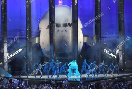 Winner of the 2018 Eurovision Song Contest Netta Barzilai of Israel performs during the Grand Final of the 64th annual Eurovision Song Contest (ESC) at the Expo Tel Aviv, in Tel Aviv, Israel, 18 May 2019.