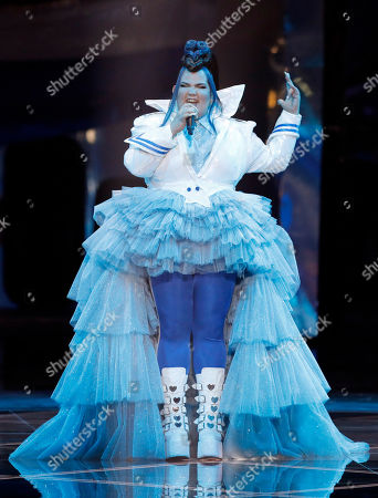 Israeli Netta Barzilai, the winner of the 2018 Eurovision Song Contest performs before the start of the 2019 Eurovision Song Contest grand final in Tel Aviv, Israel